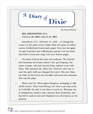 A Diary of Dixie