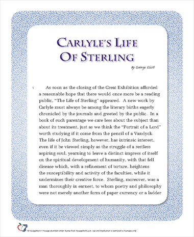 Carlyles Life of Sterling