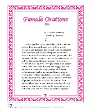 Female Orations