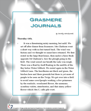 the grasmere journals Click to read more about the grasmere journals by dorothy wordsworth librarything is a cataloging and social networking site for booklovers.