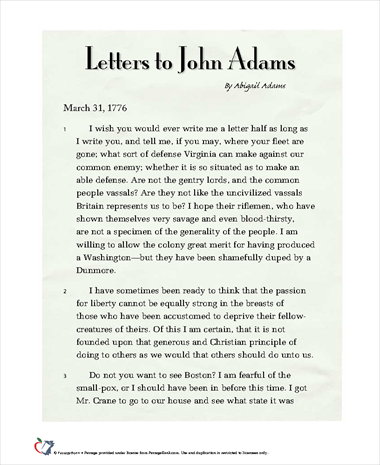 letters john and abigail adams love story Abigail and john adams bauhaus1000, print collector december 23, 1782 my  dearest friend,should i draw you the picture of my heart it.