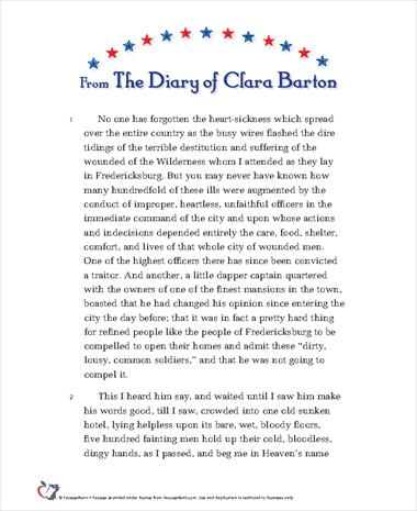The Diary of Clara Barton