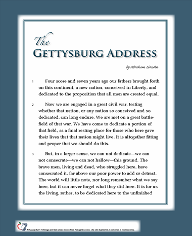 gettysburg the speech On this day in 1863, abraham lincoln gave his gettysburg address, widely  considered one of the greatest speeches in american history.