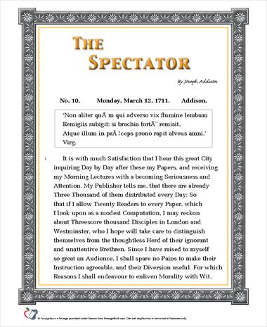 The Spectator (No. 10)