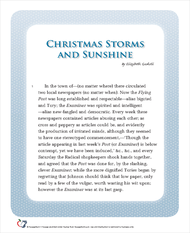 Christmas Storms and Sunshine