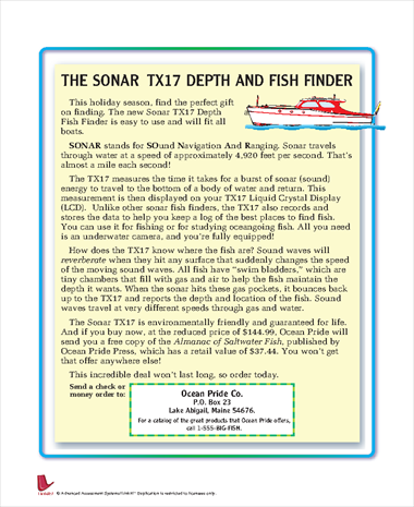 The Sonar TX17 and Fish Finder