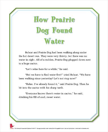How Prairie Dog Found Water