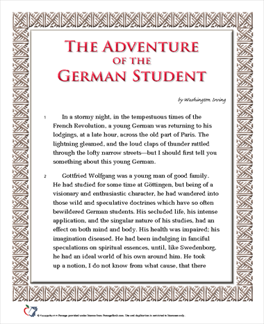The Adventure of the German Student