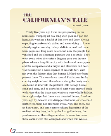 The Californians Tale