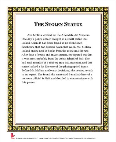 The Stolen Statue