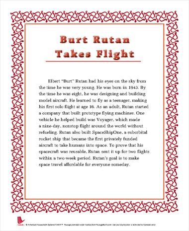 Burt Rutan Takes Flight