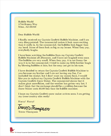 Letter to Bubble World