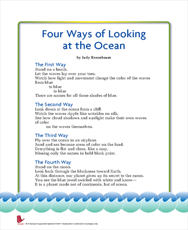 Four Ways of Looking at the Ocean