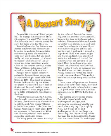 A Dessert Story