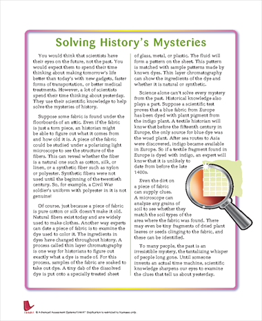 Solving History's Mysteries