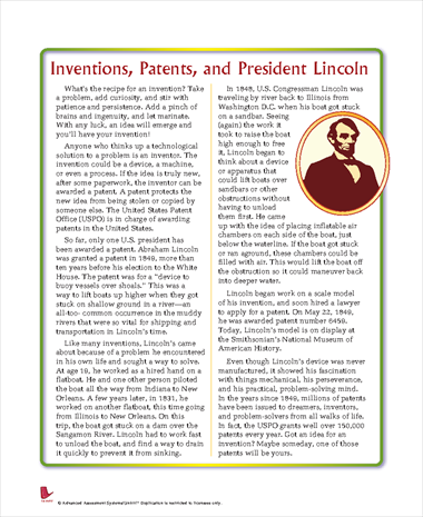 Inventions, Patents, and President Lincoln