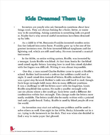 Kids Dreamed Them Up