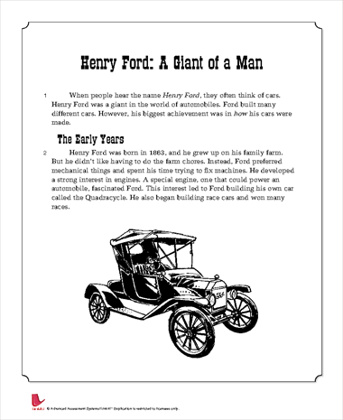 Henry Ford: A Giant of a Man