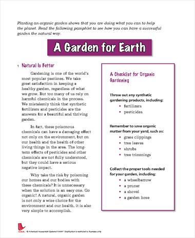 A Garden for Earth