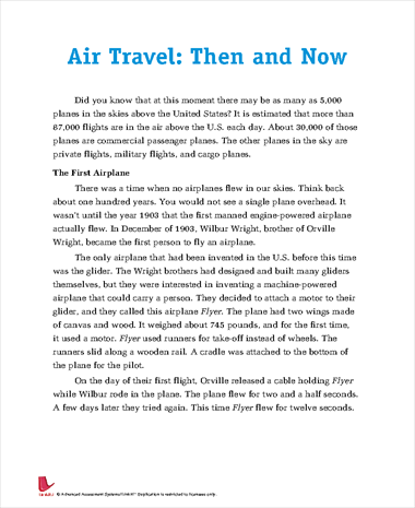 Air Travel: Then and Now
