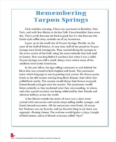 Remembering Tarpon Springs