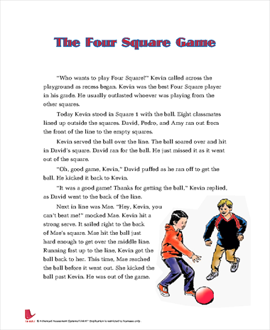 The Four Square Game