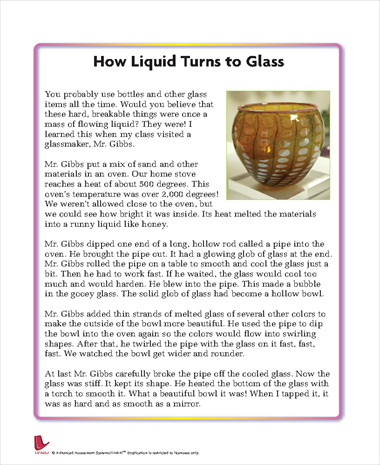 How Liquid Turns to Glass