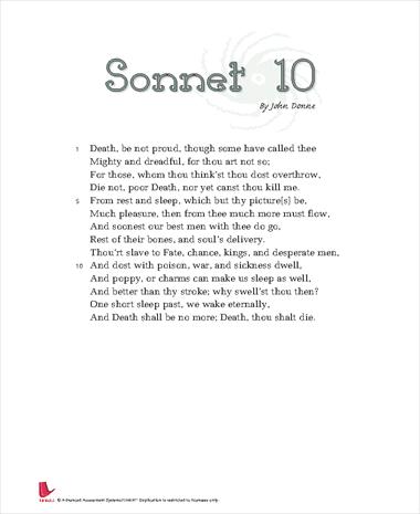 Sonnet 10