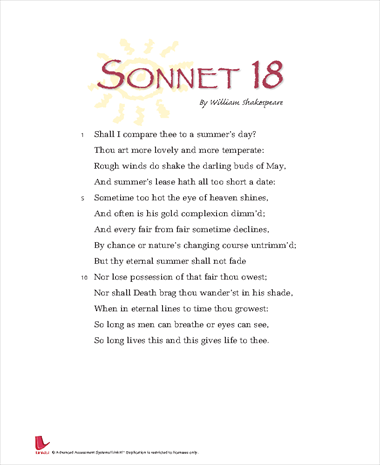 sonnet 18 Sonnet 18 is a complex sonnet and, at one level, it is as described in the answer  above the tone of its opening quatrain is, indeed, optimistic but, equally.