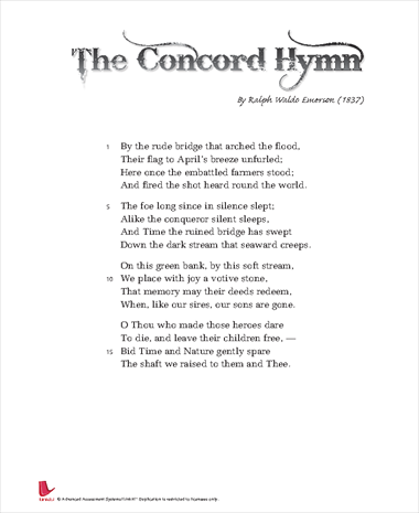 The Concord Hymn