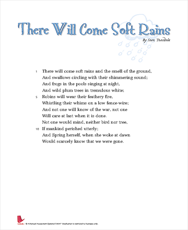 there will come soft rains full story