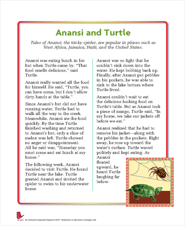 Challenger image with regard to printable anansi stories