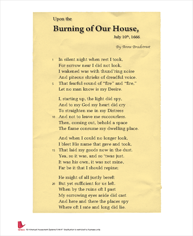 Upon the Burning of Our House, July 10th, 1666