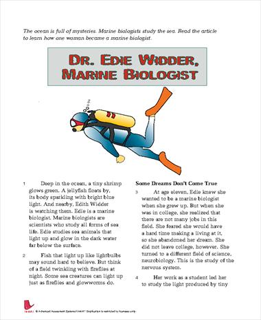 Dr. Edie Widder, Marine Biologist