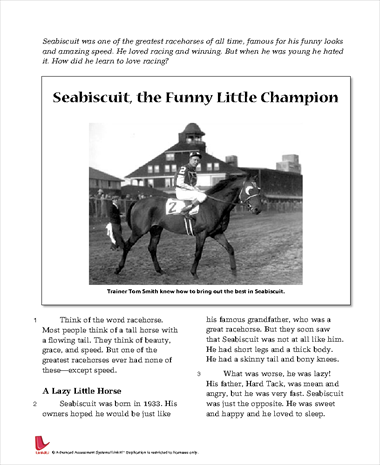 Seabiscuit, the Funny Little Champion