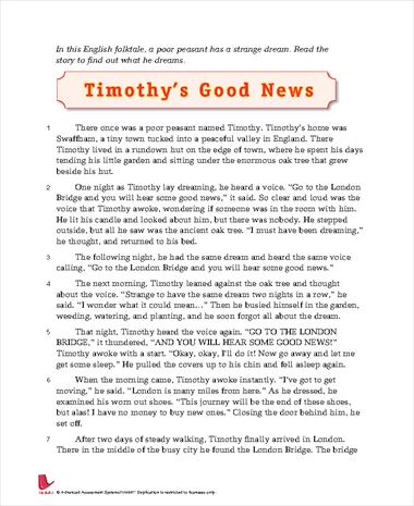 Timothy's Good News
