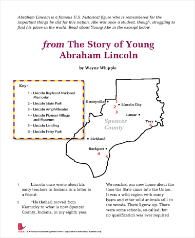 from The Story of Young Abraham Lincoln