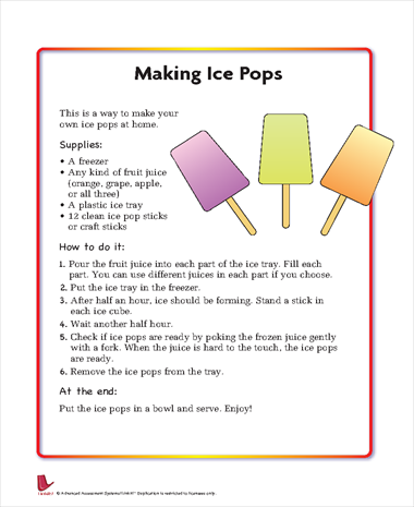 Making Ice Pops