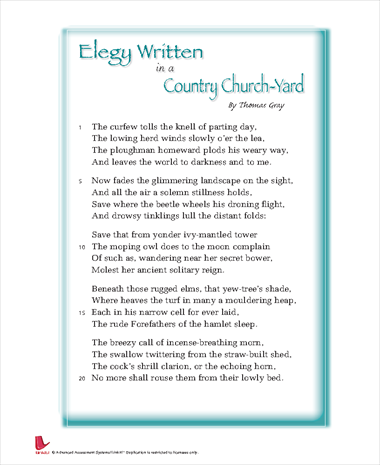 Elegy Written in a Country Church-yard