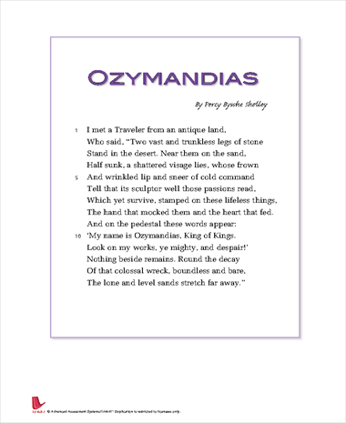 ozymandias king of nothing essay Manhattan replies that nothing ever ends ozymandias is shown to be very genial as noted by hollis mason he demonstrates his sense of humor.