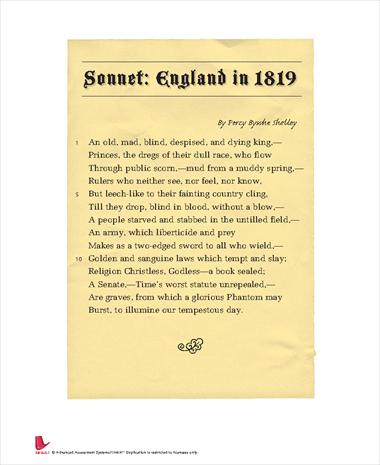 Sonnet: England in 1819