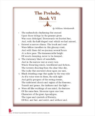 The Prelude, Book VI