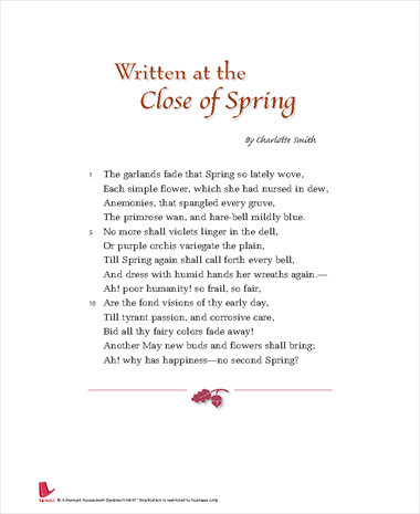 Written at the Close of Spring