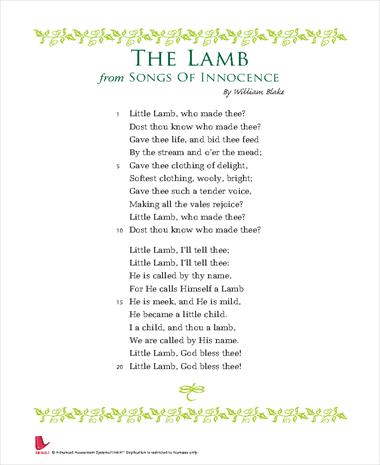 Songs Of Innocence: The Lamb