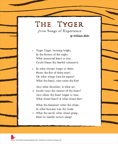 Songs of Experience: The Tyger
