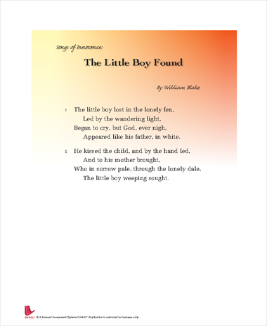 Songs Of Innocence: The Little Boy Found