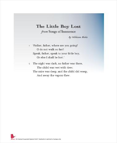 Songs of Innocence: Little Boy Lost