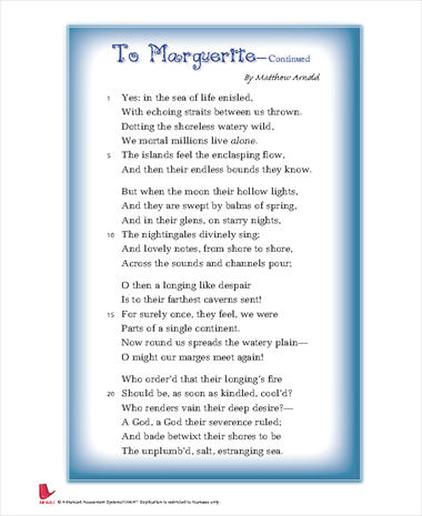 To Marguerite- Continued