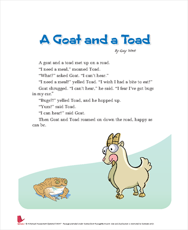 A Goat and a Toad