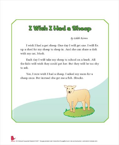 I Wish I Had a Sheep